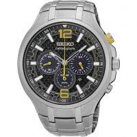 Herren Seiko solar Sport Chronograf solarbetrieben Uhren