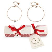 femme Johnny Loves Rosie Jewellery Heart Double Bracelet Cracker Gift Set Watch JLRCRACKER7
