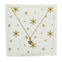 Ladies Johnny Loves Rosie Gold Plated Snowflake Necklace