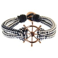 Icon Brand Jewellery Wheel Thing Bracelet JEWEL LE1236-BR-NVY