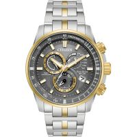 Herren Citizen Chrono A.T Alarm Chronograph Eco-Drive Watch AT4124-51H