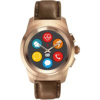 MyKronoz ZeTime Premium Bluetooth Smartwatch Rose Gold with Brown Leather Regular 122905