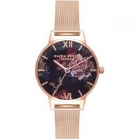 Damen Olivia Burton Dark Bouquet Watch OB16WG44