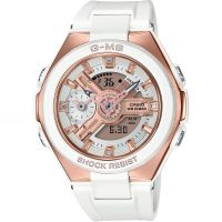 Damen Casio G-Ms Glamorous Gold Alarm Chronograph Watch MSG-400G-7AER