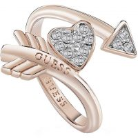 Ladies Guess Rose Gold Plated Cupid Ring