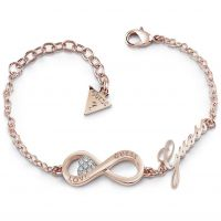 Ladies Guess Rose Gold Plated Endless Love Bracelet UBB85066-L