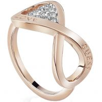 Ladies Guess Rose Gold Plated Endless Love Ring