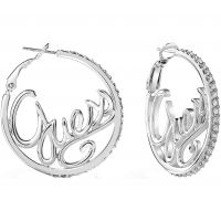 Ladies Guess Silver Plated Guess Authentics Earrings