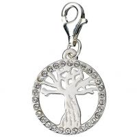 Ladies Harry Potter Sterling Silver Crystal Whomping Willow Charm HPSC003