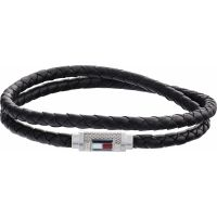 Tommy Hilfiger Jewellery Iconic Braided Leather Double Bracelet Watch 2790011