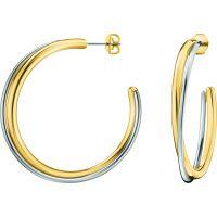 femme Calvin Klein Jewellery Double Hoop Earrings Watch KJ8XJE200100