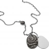 homme Diesel Jewellery Double Dogtags Watch DX1106040