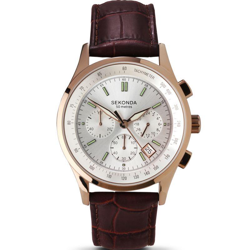 Herren Sekonda Rose Chronograph Watch 3847