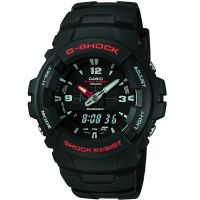 Herren Casio G-Shock Antimagnetic Alarm Chronograph Watch G-100-1BVMUR