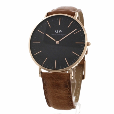 unisex daniel wellington klassisch schwarz durham uhr 40mm. Black Bedroom Furniture Sets. Home Design Ideas