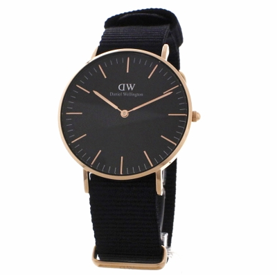 unisex daniel wellington klassisch schwarz cornwall uhr. Black Bedroom Furniture Sets. Home Design Ideas