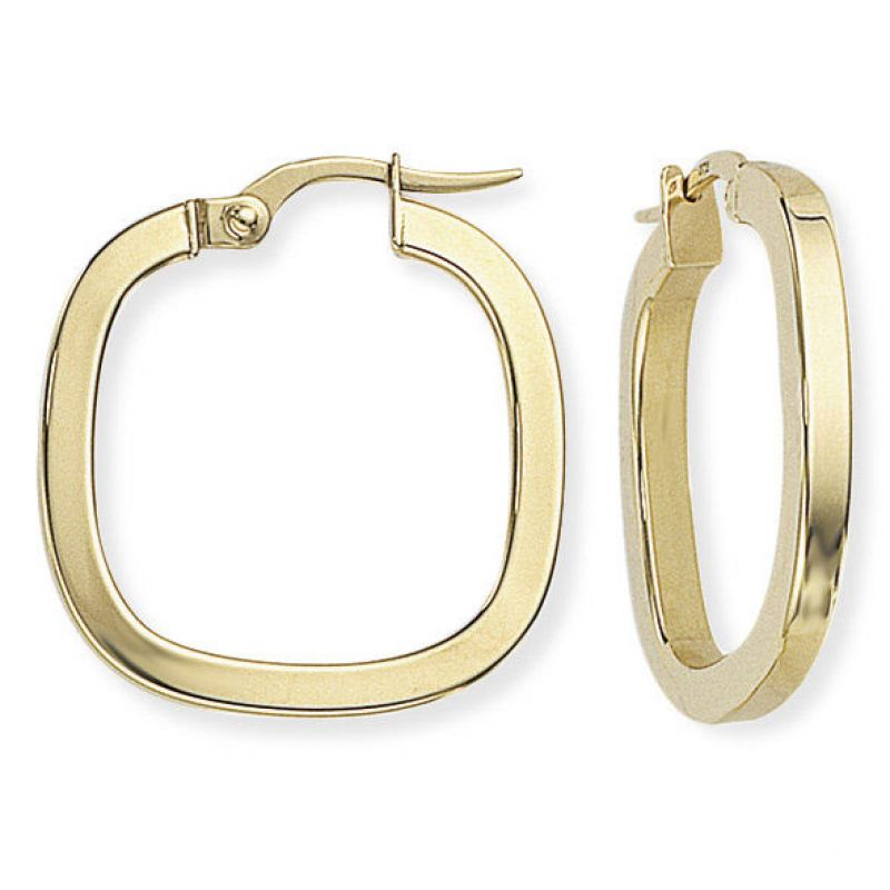 Square Tube Square Hoop Earrings