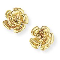 Rose-Shaped Stud Earrings