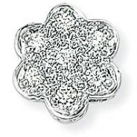 Weißgold Diamant Blume Anhänger