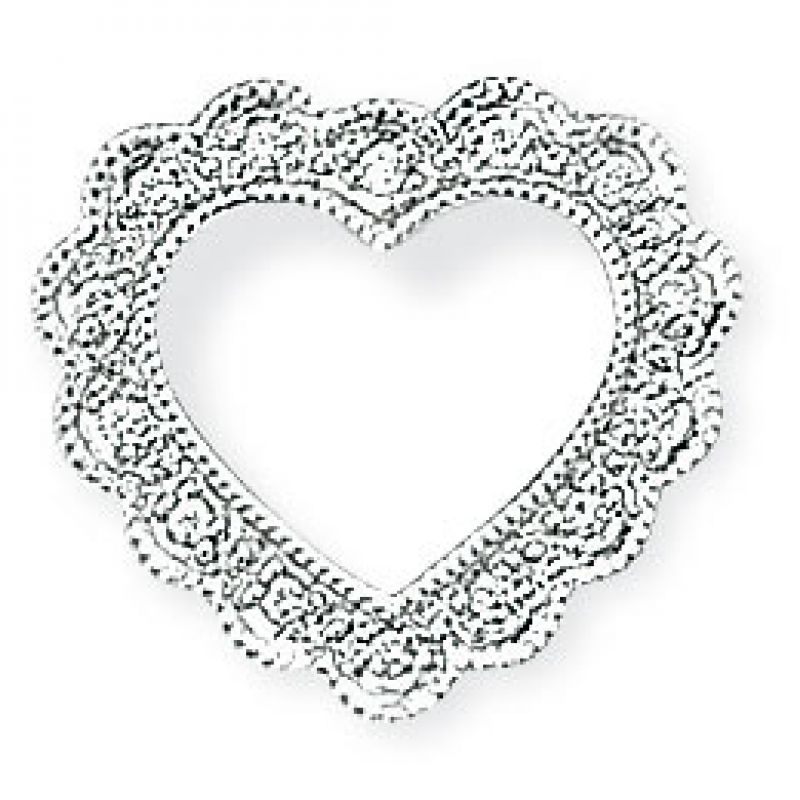 White Gold Diamond Open Heart Pendant