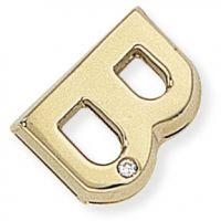 Diamond B Initial Pendant