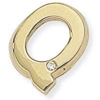 Diamant Q Initiale Anhänger