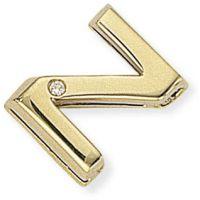 Diamond Z Initial Pendant