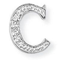 Weißgold Diamant C Initiale Anhänger