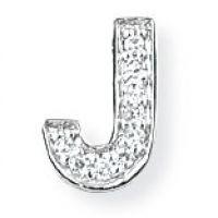 Weißgold Diamant J Initiale Anhänger