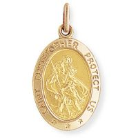 Oval St. Christopher Medaillon