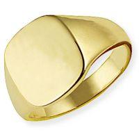klassisch Oxford Polster Signet Ring Größe R