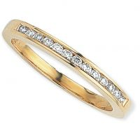 0.15ct tw VS Brilliant-cut Half Eternity Diamond Ring Size J
