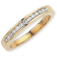 0.25ct tw VS Brillantschliff Halbe-Ewigkeit-Diamant Ring Größe N