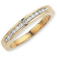 0.25ct tw VS Brillantschliff Halbe-Ewigkeit-Diamant Ring Größe O