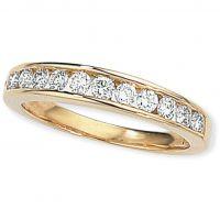 0.50ct tw VS Brillantschliff Halbe-Ewigkeit-Diamant Ring Größe L