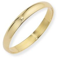 3mm D-Shaped Band Size O