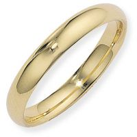4mm Court-Shaped Band Size S