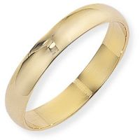 4mm D-Shaped Band Size R