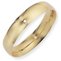 5mm Essential Court-Shaped Band Size S