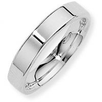 White Gold 4mm Essential Flat-Court Band Size R
