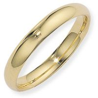 4mm Essential Court-Shaped Band Size Q