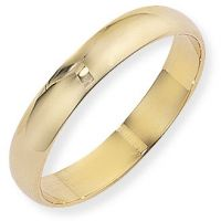 4mm Essential D-Shaped Band Size Q