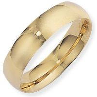 6mm Essential Court-Shaped Band Size N