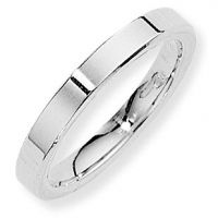 White Gold 3mm Essential Flat-Court Band Size K