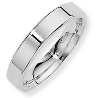 White Gold 4mm Essential Flat-Court Band Size O
