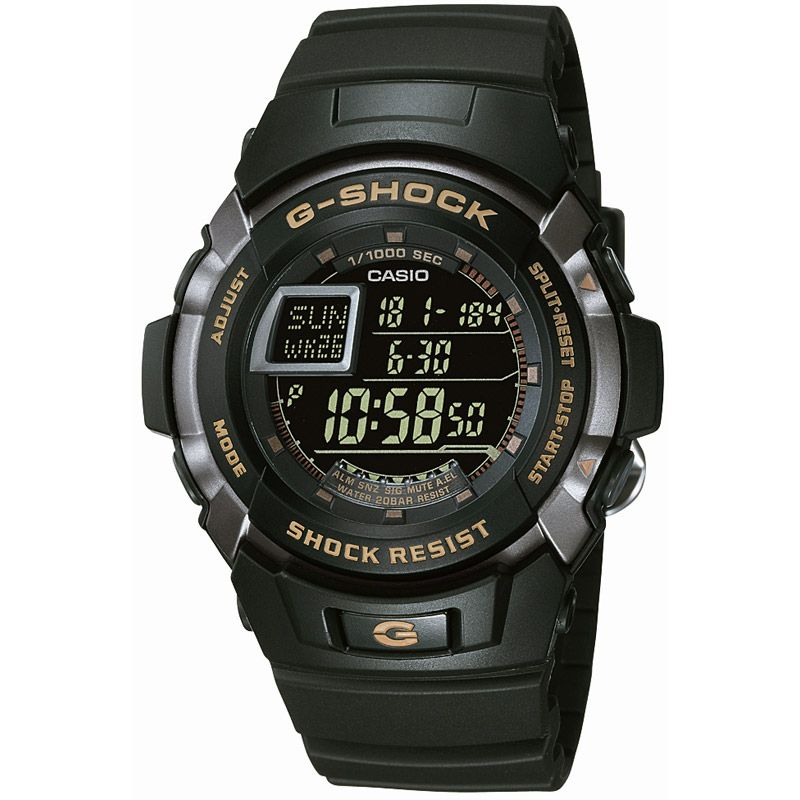 homme Casio G-Shock Alarm Chronograph Watch G-7710-1ER