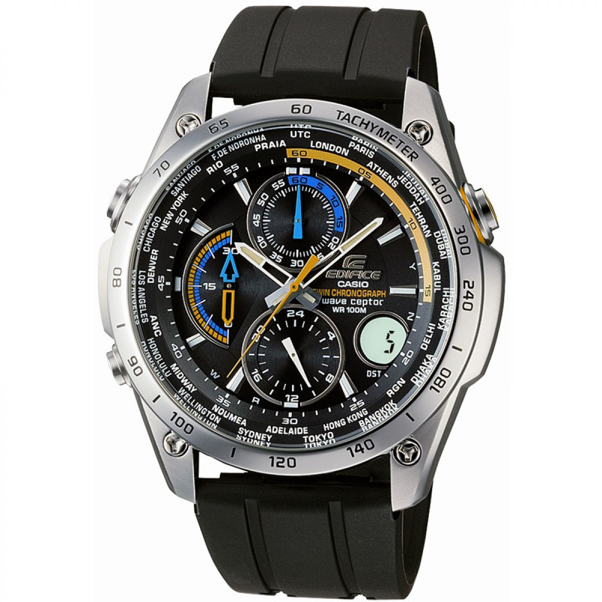 Gents Casio Edifice Wave Ceptor Alarm Chronograph Watch  Eqw