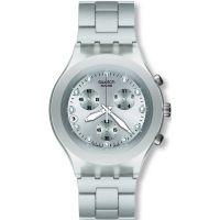 homme Swatch Full-Blooded Silver Chronograph Watch SVCK4038G