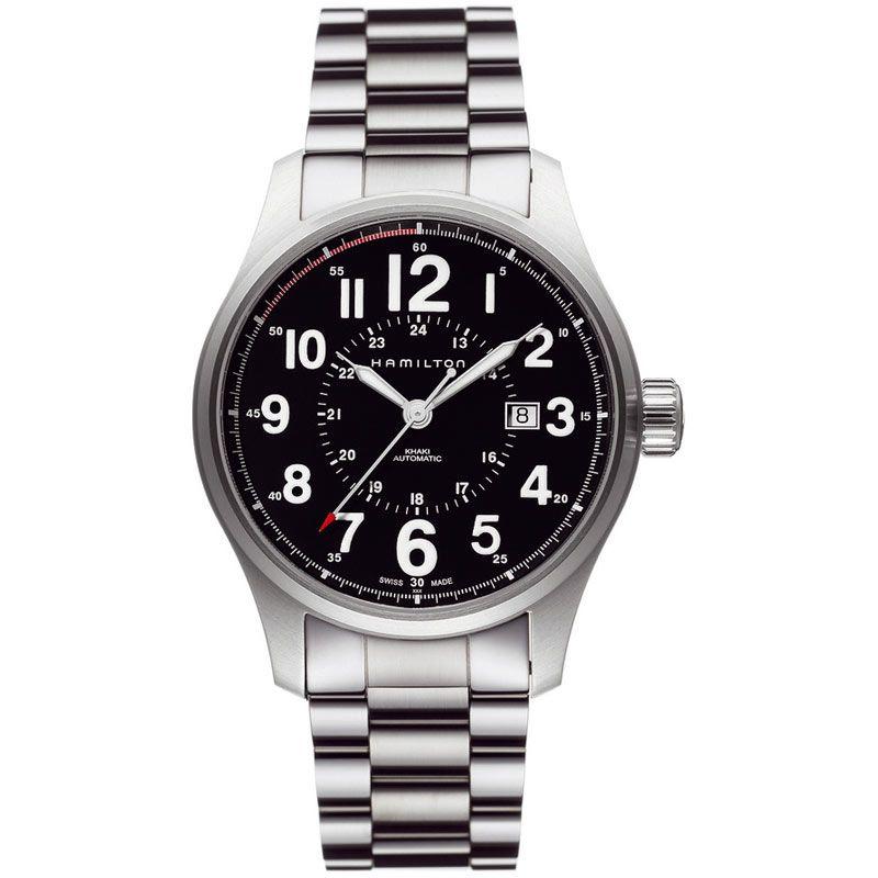 Herren Hamilton Khaki Field Officer Watch H70615133