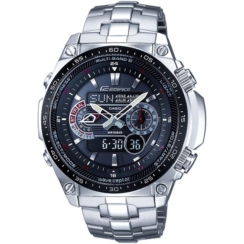 Herren Casio Edifice Waveceptor Alarm Chronograph Radio Controlled Solar Powered Watch ECW-M300EDB-1AER